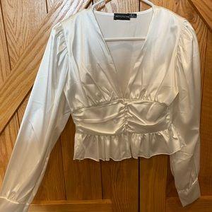 White, Silk Blouse